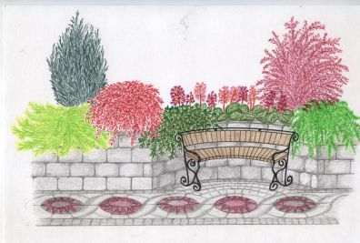 Ландшафтный дизайн в рисунках